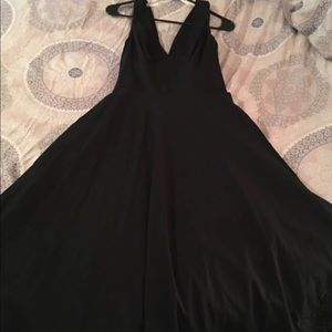 Oleg Cassini Black Linen Cocktail Dress size 8